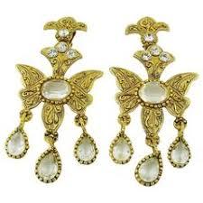 clip on chandelier earrings kenneth diamond shape clip on earrings circa