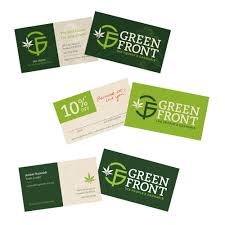 green front ink stained creative branding marketing
