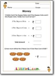 money worksheet for grade 1 class 1 math printable worksheets
