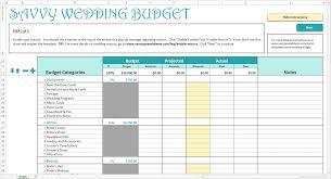 Spreadsheet For A Budget by How To Use The Savvy Wedding Budget Savvy Spreadsheets