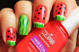 15 refreshing summer fruit nail designs
