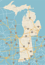 Map Of Michigan Lakes Indiana And Michigan Map U2013 Eliv