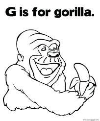 coloring page of gorilla gorilla coloring pages pictures gt cute gorilla coloring page