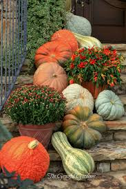 Outdoor Fall Decorations by Pretty Fall Porch Steps Halloween Fall Pinterest Porch
