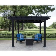 White Vinyl Pergola by Outdoor Furniture Firepits Outdoor Kitchen Wicker Seating