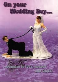 Wedding Day Card On Your Wedding Day Promise To Obey Funny Greeting Card Cards