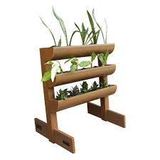 dc america city garden chem wood vertical planter 3 planting