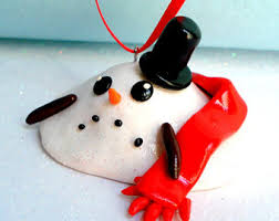 snowman ornament etsy
