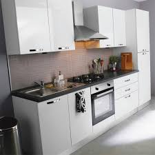 meuble cuisine laqué cuisine complte laqu brillant blanc castorama dans meuble cuisine
