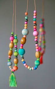 wood beads necklace images Watercolor wooden bead necklaces aunt peaches jpg