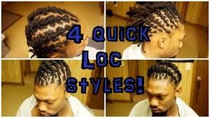 loc hairstyles with shunt 4 locstyles for short locs unisex youtube