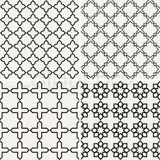 abstract modern backgrounds set geometric seamless patterns