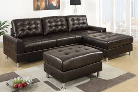 Grey Leather Tufted Sofa by Cool Dark Tufted Leather Sectional With Ottoman And Storage Space Underneath Jpg