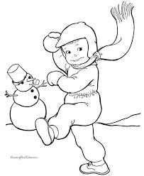 599 color pretty snowmen images coloring