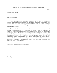 Mba Sample Resumes by Manager Cover Letter Sample Cover Letter For Management Sample