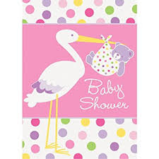 stork baby shower pink stork baby shower invitations 8ct kitchen dining