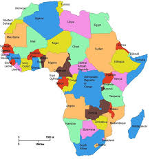 africa map states map of africa by country africa map