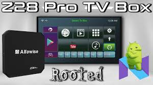 pro android alfawise z28 pro android 7 1 rockchip rk3328 4k tv box review tv