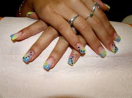 blue and yellow nail art gallery