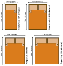 twin bed size in cm size
