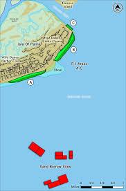 Map South Carolina Coast Beach Restoration Isle Of Palms