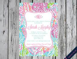 Lilly Pulitzer Home by Sale Lilly Pulitzer Bridal Shower Invitation Let U0027s Cha