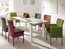 Square Dining Table And Chairs Dining Room Simple Modern White Square Dining Table Set With