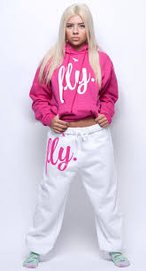 fly pink hoodie white pants sweatsuit unisex fit u2013 flypolar