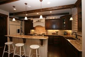 one wall kitchen bar with rectangular island u2014 smith design