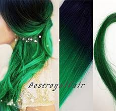mermaid hair extensions black to green mermaid colorful two colors ombre