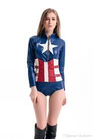 American Flag Corset 2017 New Captain America Corset Jumpsuit Cosplay