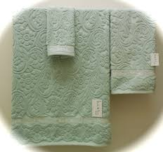 Aqua Towels Bathroom Nicole Miller Light Aqua Bath Towels Sculpted Tip Hand Bath Or Set