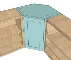 How To Build A Shed Plans For Free by Ana White Wall Kitchen Corner Cabinet Diy Projects