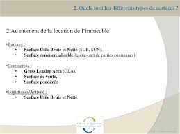 calcul surface utile bureaux commerciaux comment s y pdf