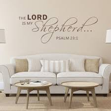 compare prices on bible quotes wall decals online shopping buy psalm 23 1 the lord is my shepherd bible verse vinyl wall decal quotes art