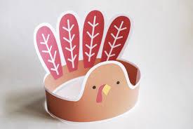 turkey headband 4 thanksgiving printables for kids handmade