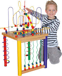 wooden bead toy table large motor skills table bead activity table bead frame table baby