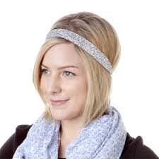 wide headband hipsy adjustable no slip bling glitter silver wide headband
