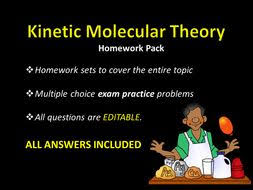 kinetic molecular theory homework sets w answers sample test