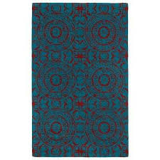 Home Depot Wool Area Rugs Excellent 8 X 10 Blue Abstract Area Rugs The Home Depot Throughout