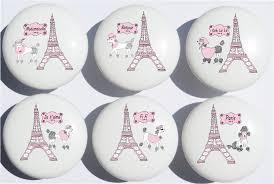 Eiffel Tower Room Decor Poodles In Paris Drawer Pull Knobs Eiffel Tower Paris Ceramic