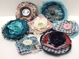 Handmade Fabric Crafts - handmade fabric brooches must do this fabric flowers