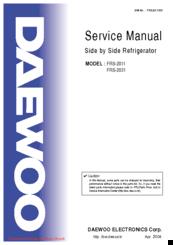 daewoo frs 2031 manuals