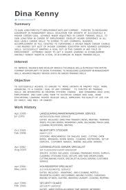 Catering Resume Samples by Landscaping Resume Samples Visualcv Resume Samples Database