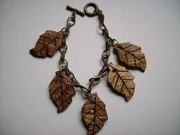 leaf charm bracelet images Hiddentreasurejewellery JPG