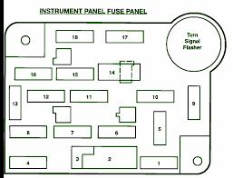 1993 ford f150 5 8l instrument panel fuse box diagram u2013 circuit