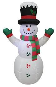 4 foot lighted snowman with