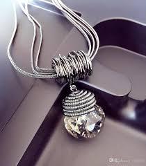 big crystal necklace images Wholesale big crystal ball pendant necklace vintage fasion long jpg
