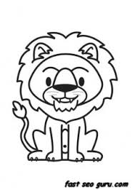 print out jungle animal lion coloring pages printable coloring