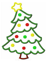 leaning christmas tree applique